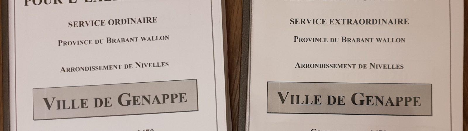 Budget communal 2020 Ville de Genappe